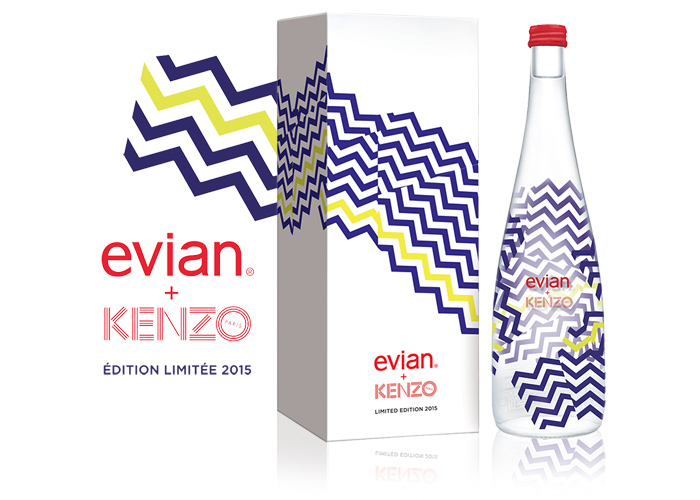 Sérigraphie SAGA Décor bouteille verre Danone Evian Kenzo