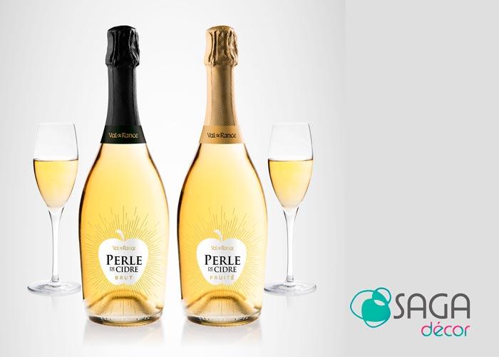 Perle de Cidre, Val de Rance sérigraphie 3 couleurs imitation or par Saga Décor