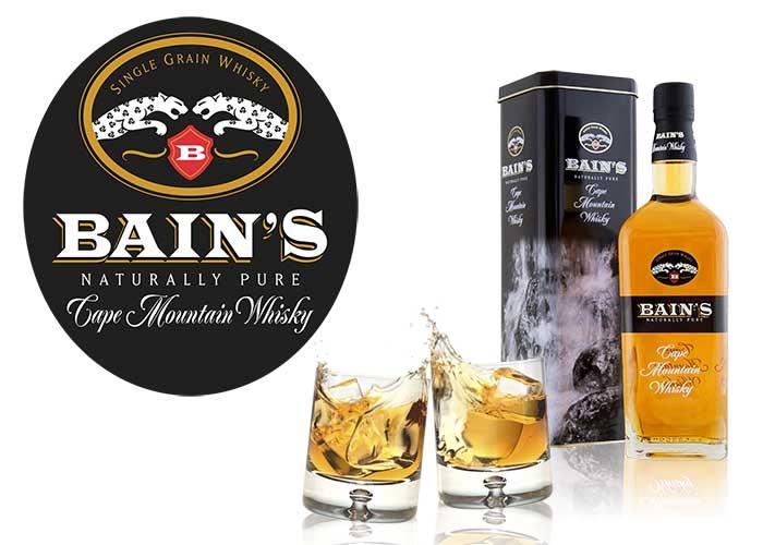 Sérigraphie SAGA Décor verre bouteille Bain's whisky