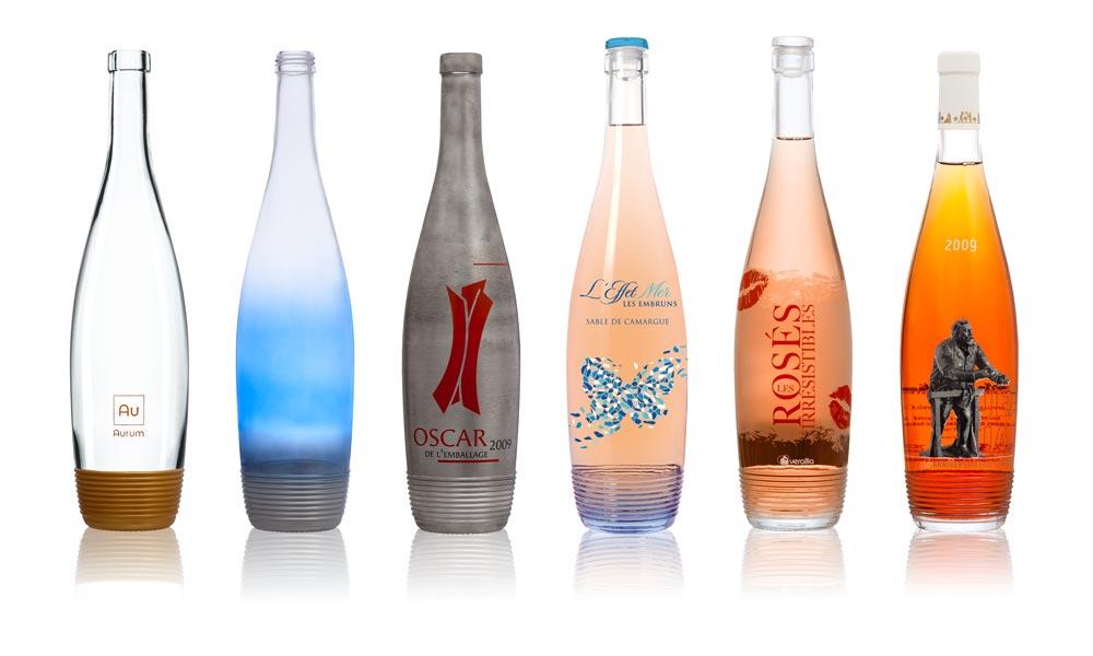 SAGA Décor bouteille verre Selective Line Nairobi 6 décors décorées