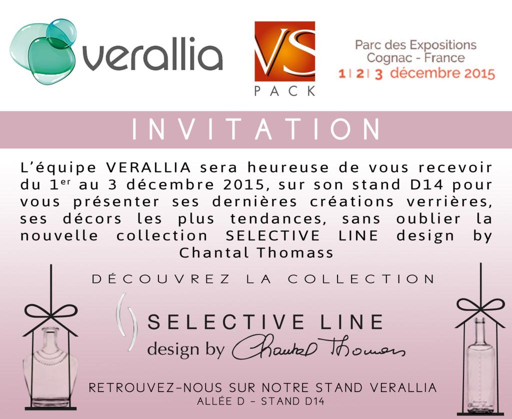 VS PACK 1er au 3 décembre Verallia SAGA Décor Chantal Thomass Selective Line