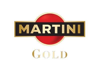 Martini SAGA Décor gold logo