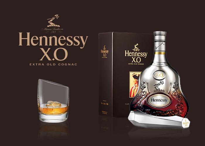 Métallisation SAGA Décor bouteille verre Hennessy XO