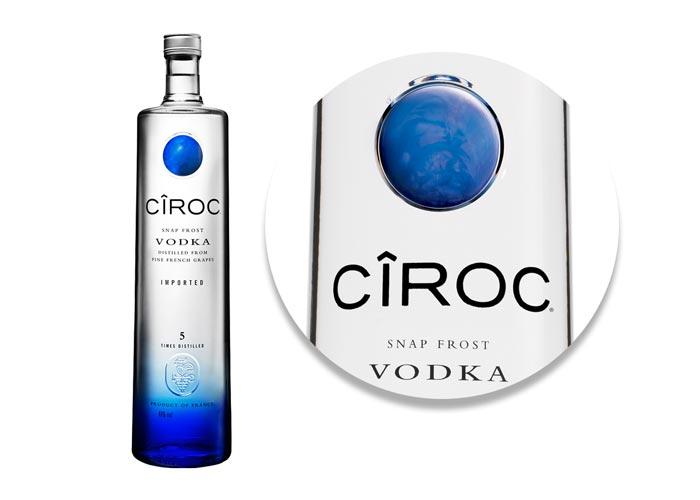 Pose d'accessoires SAGA Décor Ciroc vodka