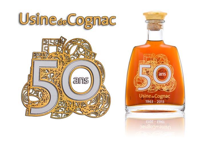 Sérigraphie-métaux précieux SAGA Décor Cognac 50 ans
