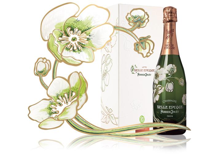 SAGA Décor sérigraphie bouteille pleine Perrier Jouet Belle Epoque