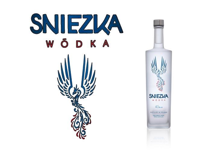Satinage SAGA Décor dépolissage bouteille verre Sniezka vodka
