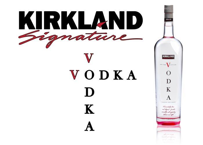 Laquage fond SAGA Décor bouteille Kirkland vodka