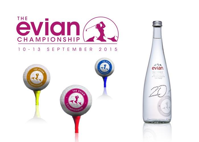 Sérigraphie Accessoire strass SAGA Décor Evian Championship Golf 2