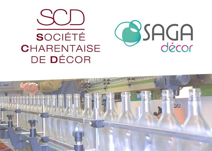 acquisition societe charentaise de decor saga satinage verre cognac gensac