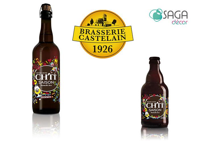 Ch'ti Saison, la nouvelle bière édition limitée de la brasserie Castelain décorée par SAGA Décor