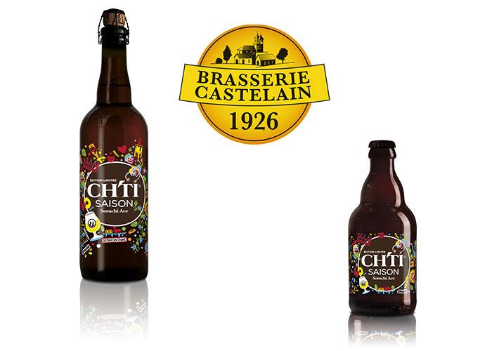 Bière Ch'ti Saison de la brasserie Castelain, décoré en sérigraphie émail par Saga Décor