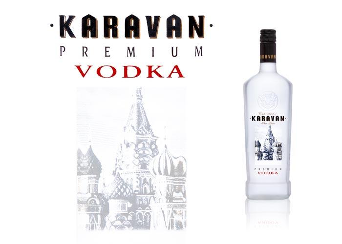 Satinage SAGA Décor fenêtre dépolissage bouteille verre Karavan Vodka