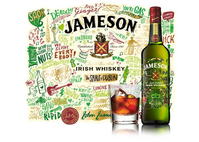 Sérigraphie bouteille verre SAGA Décor jameson whisky